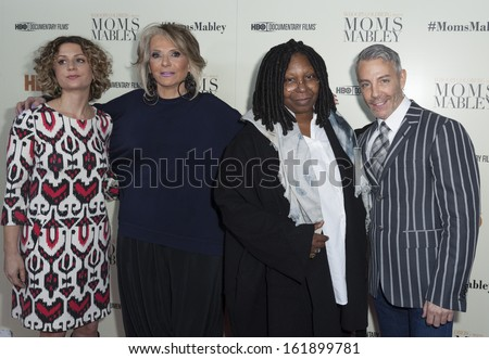NEW YORK - NOVEMBER 7: Sara Bernstein; Sheila Nevins, Whoopi Goldberg, Tom Leonardis attend HBO Moms Mabley at Apollo Theater on November 7, 2013 in New York City