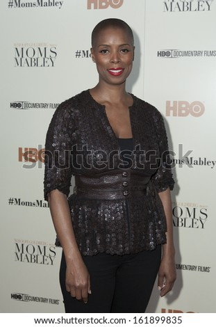 NEW YORK - NOVEMBER 7: Sidra Smith attends HBO 'Whoopi Goldberg presents Moms Mabley'  premiere at Apollo Theater on November 7, 2013 in New York City - stock photo