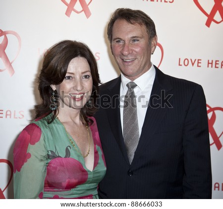 NEW YORK - NOVEMBER 09: Victoria Leacock Hoffman, Hal Rubenstein attend Love Heals The Alison Gertz Foundation For AIDS Education 20th Anniversary gala on November 9, 2011 in New York City, NY. - stock photo