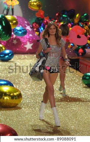 NEW YORK - NOVEMBER 10: Victoria's Secret Fashion Show model Constance Yablonski walks the runway during the 2010 Victoria's Secret Fashion Show on November 10, 2010 at the Armory in New York City. - stock photo