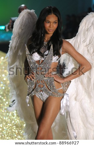 NEW YORK - NOVEMBER 10: Victoria's Secret sexy model walks the runway during the 2010 Victoria's Secret Fashion Show on November 10, 2010 at the Lexington Armory in New York City. - stock photo