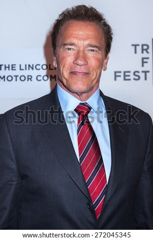 NEW YORK, NY - APRIL 22: Actor Arnold Schwarzenegger attends the 2015 Tribeca Film Festival world premiere narrative: 'Maggie' at BMCC Tribeca PAC on April 22, 2015 in New York City. - stock photo