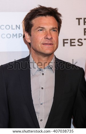 NEW YORK, NY - APRIL 16: Actor Jason Bateman  attend 'The Family Fang' Premiere - 2016 Tribeca Film Festival at BMCC Tribeca Performing Arts Center on April 16, 2016 in New York City - stock photo