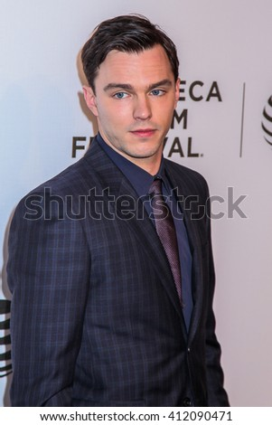 NEW YORK, NY - APRIL 18: Actor Nicholas Hoult  attends 'Equals' Premiere  2016 Tribeca Film Festival at John Zuccotti Theater at BMCC Tribeca Performing Arts Center on April 18, 2016 in New York City. - stock photo