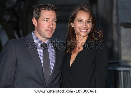 NEW YORK, NY - APRIL 23: Christy Turlington Burns and Edward Burns attend the Vanity Fair Party during the 2014 Tribeca Film Festival at the State Supreme Courthouse on April 23, 2014 in New York City - stock photo