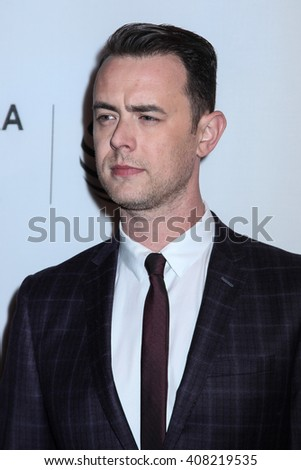 NEW YORK, NY - APRIL 18: Colin Hanks  attends the 'Elvis & Nixon' Premiere during the 2016 Tribeca Film Festival at BMCC John Zuccotti Theater on April 18, 2016 in New York City