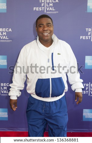 NEW YORK, NY - APRIL 24: Comedian Tracy Morgan attends Tribeca Talks: The Artist's Angle 'Richard Pryor: Omit The Logic' during the 2013 Tribeca Film Festival on April 24, 2013 in New York City. - stock photo
