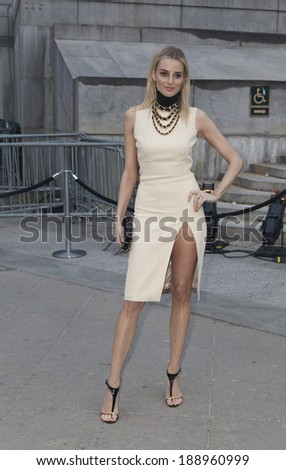 New York, NY - April 23, 2014: Katie Nehra attends the Vanity Fair Party during the 2014 Tribeca Film Festival at the State Supreme Courthouse