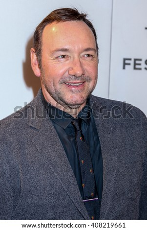 NEW YORK, NY - APRIL 18: Kevin Spacey attends the 'Elvis & Nixon' Premiere during the 2016 Tribeca Film Festival at BMCC John Zuccotti Theater on April 18, 2016 in New York City - stock photo