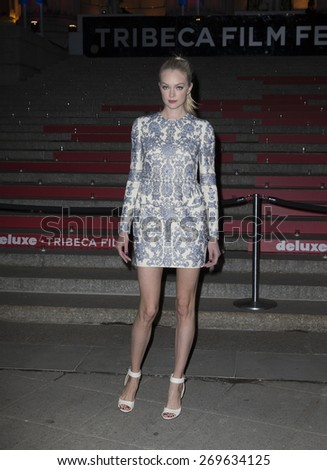 New York, NY - April 14, 2015: Lindsay Ellingson attends the 2015 Tribeca Film Festival Vanity Fair Party at State Supreme Courthouse - stock photo