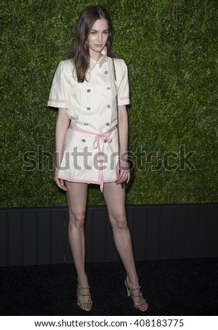 NEW YORK, NY - APRIL 18, 2016: Model Laura Love attends the 11th Annual Chanel Tribeca Film Festival Artists Dinner at Balthazar