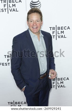 New York, NY - April 15, 2015: Steve Guttenberg attends Tribeca Film Festival opening night screening of Live From New York at Beacon Theater - stock photo
