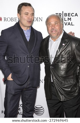 NEW YORK, NY - APRIL 25: TV Personality Greg Kelly (L) and actor Bo Dietl attend the closing night screening of 'Goodfellas' during the 2015 Tribeca Film Festival at Beacon Theatre