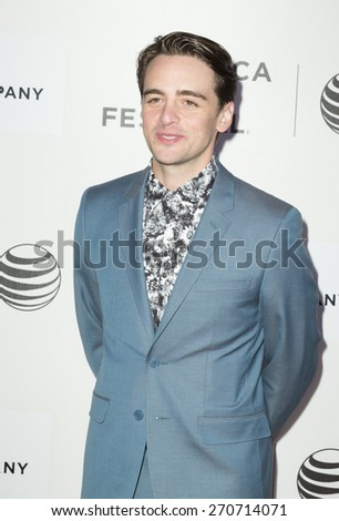 New York, NY - April 17, 2015: Vincent Piazza attends Tribeca Film Festival premiere of Wannabe film at BMCC Tribeca Performing Arts Center - stock photo