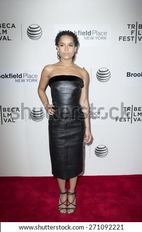 New York, NY - April 19, 2015: Zoe Kravitz attends Tribeca Film Festival premiere of Good Kill film at BMCC Tribeca Performing Arts Center - stock photo