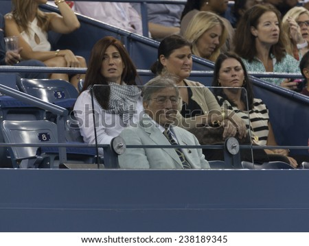 NEW YORK, NY - AUGUST 28: Tony Bennett attends 2nd round match between Andy Murray of United Kingdom & Matthias Bachinger of Germany at US Open tennis tournament in Flushing Meadows USTA Tennis Center 2014 - stock photo