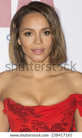 NEW YORK, NY - DECEMBER 14, 2014: Actress Carmen Ejogo attends the 'Selma' New York Premiere at the Ziegfeld Theater