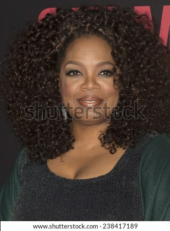 NEW YORK, NY - DECEMBER 14, 2014: Actress Oprah Winfrey attends the 'Selma' New York Premiere at the Ziegfeld Theater - stock photo