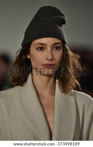 NEW YORK, NY - FEBRUARY 03: A model walks the runway at the Billy Reid fashion show during New York Fashion Week Men's Fall/Winter 2016 on February 3, 2016 in NYC.