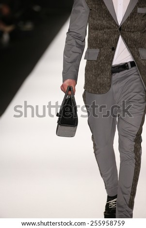 NEW YORK, NY - FEBRUARY 19: A model walks the runway in a House of Byfield design at the Art Hearts Fashion show during MBFW Fall 2015 at Lincoln Center on February 19, 2015 in NYC