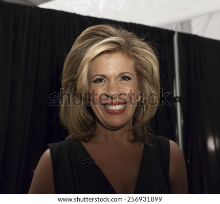 NEW YORK, NY - FEBRUARY 12, 2015: Hoda Kotb attends runway for Kids Rock by Nike Levi's during Fall 2015 Fashion Week at Lincoln Center - stock photo
