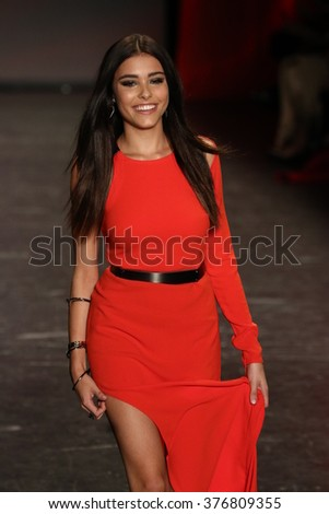 NEW YORK, NY - FEBRUARY 11: Madison Beer walks the runway at The American Heart Association's Go Red For Women Red Dress Collection 2016 Presented By Macy's on February 11, 2016 in NYC.
