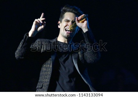 NEW YORK, NY   JULY 24, 2018: Brendon Urie Of Panic! At