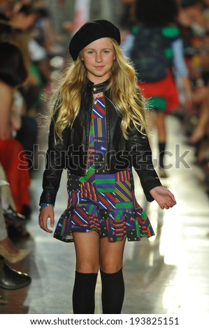 NEW YORK, NY - MAY 19: A model walks the runway at the Ralph Lauren Fall 14 Children's Fashion Show in Support of Literacy at New York Public Library on May 19, 2014 in New York City.