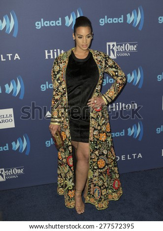 New York, NY - May 9, 2015: Dascha Polanco attends 26th Annual GLAAD Media Awards at Waldorf Astoria - stock photo