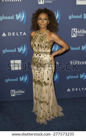 New York, NY - May 9, 2015: Janet Mock attends 26th Annual GLAAD Media Awards at Waldorf Astoria - stock photo