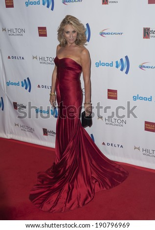 New York, NY - May 03, 2014: SOnja Morgan attends the 25th Annual GLAAD Media Awards at Waldorf Astoria - stock photo