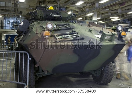 NEW YORK, NY - MAY 23: The LAV-25 is an eight-wheeled amphibious infantry fighting vehicle (IFV) used by the United States Marine Corps. Taken during Fleet week May 23, 2009 in New York City.