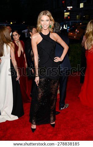 New York, NY  Monday May 04, 2015: Karlie Kloss attends 'China: Through The Looking Glass' Costume Institute Gala, held at the Metropolitan Museum of Art in New York City, New York. - stock photo