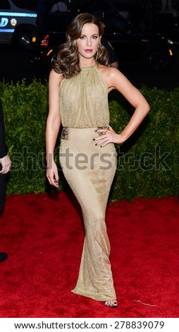 New York, NY  Monday May 04, 2015: Kate Beckinsale attends 'China: Through The Looking Glass' Costume Institute Gala, held at the Metropolitan Museum of Art in New York City, New York. - stock photo