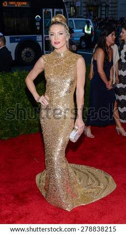 New York, NY  Monday May 04, 2015: Kate Hudson attends 'China: Through The Looking Glass' Costume Institute Gala, held at the Metropolitan Museum of Art in New York City, New York. - stock photo