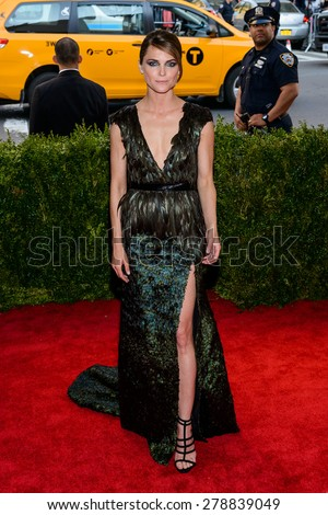 New York, NY  Monday May 04, 2015: Kerri Russell attends 'China: Through The Looking Glass' Costume Institute Gala, held at the Metropolitan Museum of Art in New York City, New York. - stock photo