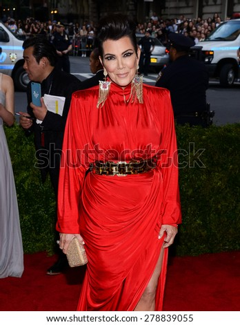 New York, NY  Monday May 04, 2015: Kris Jenner attends 'China: Through The Looking Glass' Costume Institute Gala, held at the Metropolitan Museum of Art in New York City, New York. - stock photo