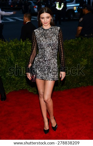 New York, NY  Monday May 04, 2015: Miranda Kerr attends 'China: Through The Looking Glass' Costume Institute Gala, held at the Metropolitan Museum of Art in New York City, New York. - stock photo
