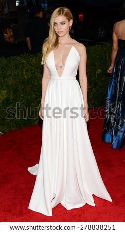 New York, NY  Monday May 04, 2015: Nicola Peltz attends 'China: Through The Looking Glass' Costume Institute Gala, held at the Metropolitan Museum of Art in New York City, New York. - stock photo