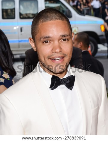 New York, NY  Monday May 04, 2015: Trevor Noah attends 'China: Through The Looking Glass' Costume Institute Gala, held at the Metropolitan Museum of Art in New York City, New York. - stock photo