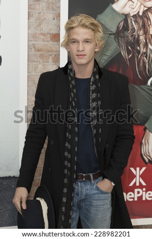New York, NY - NOVEMBER 07, 2014: Cody Simpson attends OnePiece New York Concept Store Grand Opening In SOHO on Broadway