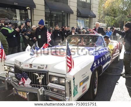 Grand marshall stock images royalty free images vectors new york ny november 11 2017 grand marshal nasa astronaut buzz aldrin sciox Images