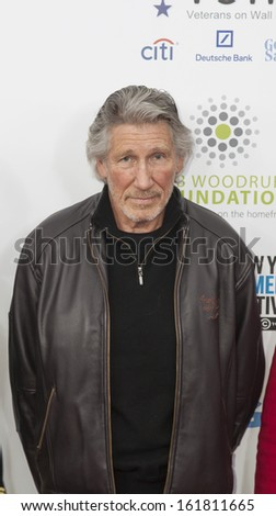 NEW YORK, NY - NOVEMBER 06: Musican Roger Waters (L-R) attend the 7th annual 'Stand Up For Heroes' event at Madison Square Garden on November 6, 2013 in New York City - stock photo
