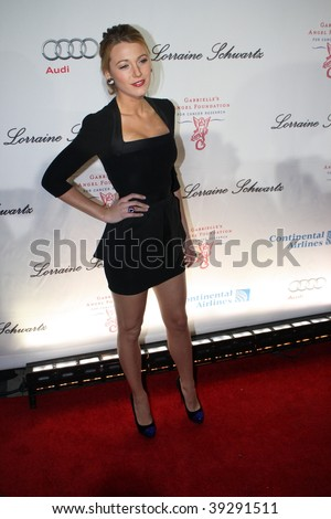 NEW YORK, NY - OCTOBER 20: Blake Lively attends the 2009 Angel Ball on October 20, 2009 in New York City. - stock photo
