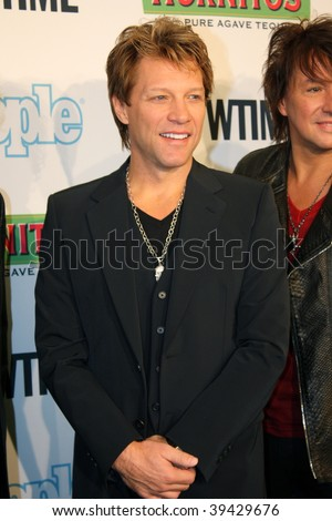 "NEW YORK, NY - OCTOBER 21: Jon Bon Jovi attends the Bon Jovi film ""When we were beautiful"" premier on October 21, 2009 in New York City. - stock photo"