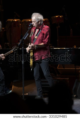 New York, NY - October 22, 2015: Keith Richards preforms during Great NIght in Harlem fundraising concert for Jazz Foundation of America at Apollo theater