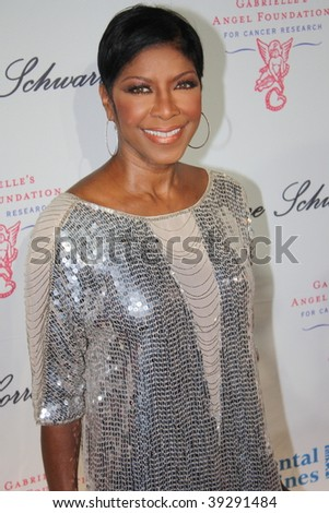 NEW YORK, NY - OCTOBER 20: Natalie Cole attends the 2009 Angel Ball on October 20, 2009 in New York City. - stock photo