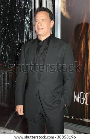 "NEW YORK, NY - OCTOBER 13: Tom Hanks attends the ""Where the Wild Things Are"" premier on October 13, 2009 in New York City."