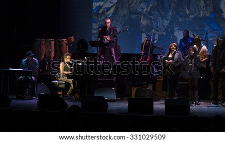 New York, NY - October 22, 2015: Valerie Simpson performs during Great NIght in Harlem fundraising concert for Jazz Foundation of America at Apollo theater
