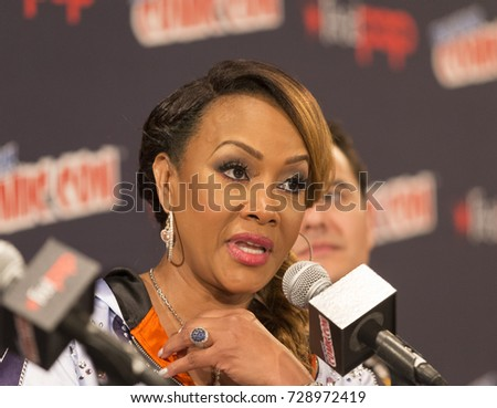 New York, NY - October 5, 2017: Vivica Fox attends Panel Explosion Jones during 2017 New York Comic Con - Day 1